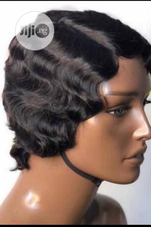 Short Curly Human Hair Wig | Hair Beauty for sale in Lagos State, Badagry