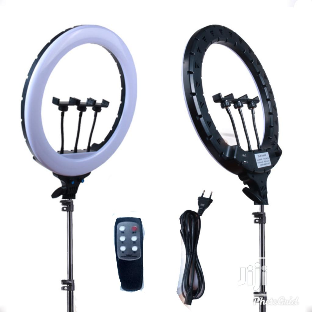 18 Inch Ring Light + Tripod Stand + 3 Phone Holders + Remote