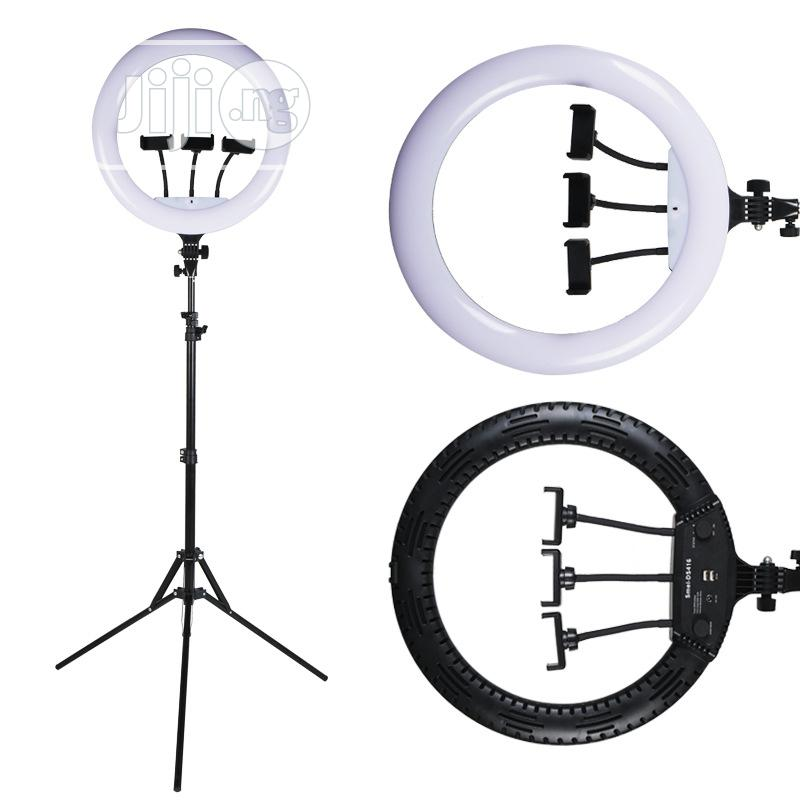 18 Inch Ring Light + Tripod Stand + 3 Phone Holders + Remote   Accessories for Mobile Phones & Tablets for sale in Ikorodu, Lagos State, Nigeria