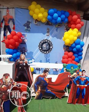 Super Heroes Cake Backdrop.   Party, Catering & Event Services for sale in Lagos State, Ikoyi