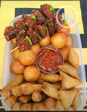Small Chops With Pepper Meat | Meals & Drinks for sale in Delta State, Ugheli
