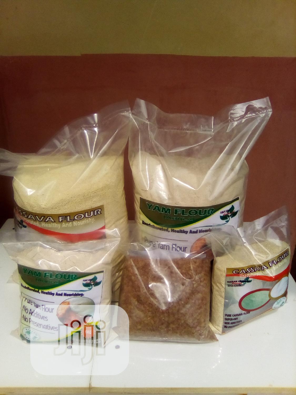 Neatly Processed Yam Flour, Garri Ijebu,Ofada Rice, Palm Oil