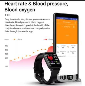 R16 Smartwatch Sports Heart Rate Monitor Fitness Tracker | Smart Watches & Trackers for sale in Lagos State, Ojo