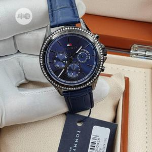 High Quality Tommy Hilfiger Blue Dial Leather Watch | Watches for sale in Lagos State, Magodo