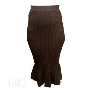 Ladies Midi Knee Length Skirt-Coffee Brown,Grey Black   Clothing for sale in Lagos State, Ojota