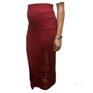 Crazy Style Ladies Knee Length Midi Skirt -Wine,Black   Clothing for sale in Lagos State, Ojota
