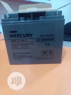 12v18ah Mercury UPS Deep Cycle Battery | Solar Energy for sale in Lagos State, Ojodu