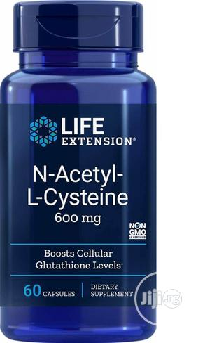 Life Extension N Acetyl L Cysteine NAC 600mg 60 Caps Boost C | Vitamins & Supplements for sale in Lagos State, Amuwo-Odofin