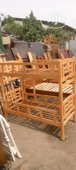 Double Decker Children Bedframe (2fit/5fit) | Children's Furniture for sale in Lagos State, Oshodi