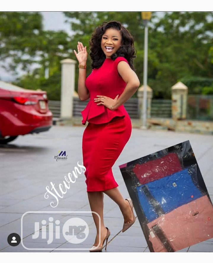 New Female Red Dress | Clothing for sale in Ikeja, Lagos State, Nigeria