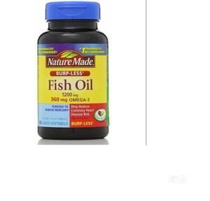 Nature Made Fish Oil, Omega-3, Burp-Less, 1200 Mg, 60 Liquid | Vitamins & Supplements for sale in Lagos State, Amuwo-Odofin