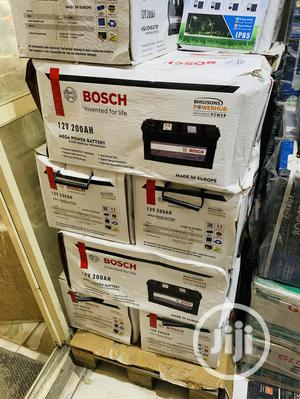 200ah 12v Bosch Deep Cyle Battery   Solar Energy for sale in Lagos State, Ikeja
