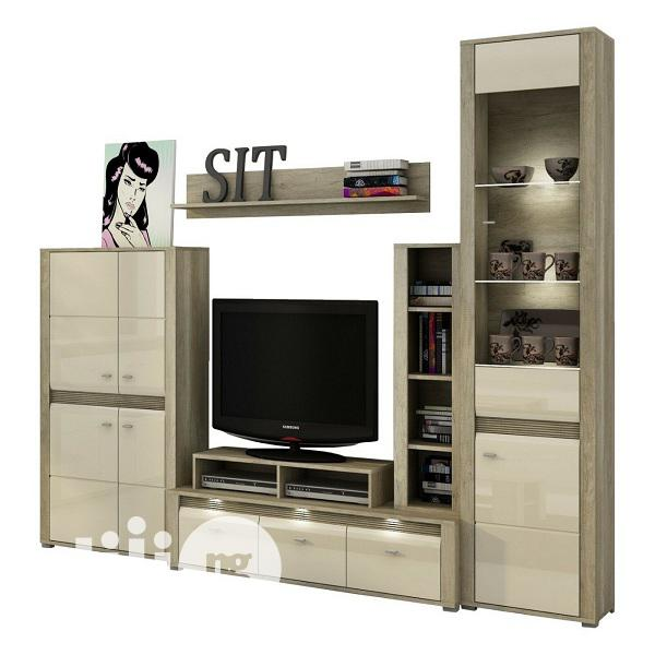 Living Room Furniture Set Display Unit Floating Shelf TV Sta