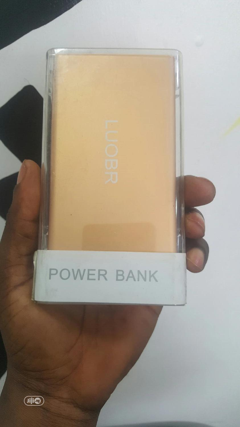 Loubr Power Bank Gold 5000mh   Accessories for Mobile Phones & Tablets for sale in Ikeja, Lagos State, Nigeria
