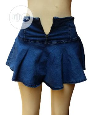 Ladies Flare Pleated Jean Skirt | Clothing for sale in Lagos State, Ikeja