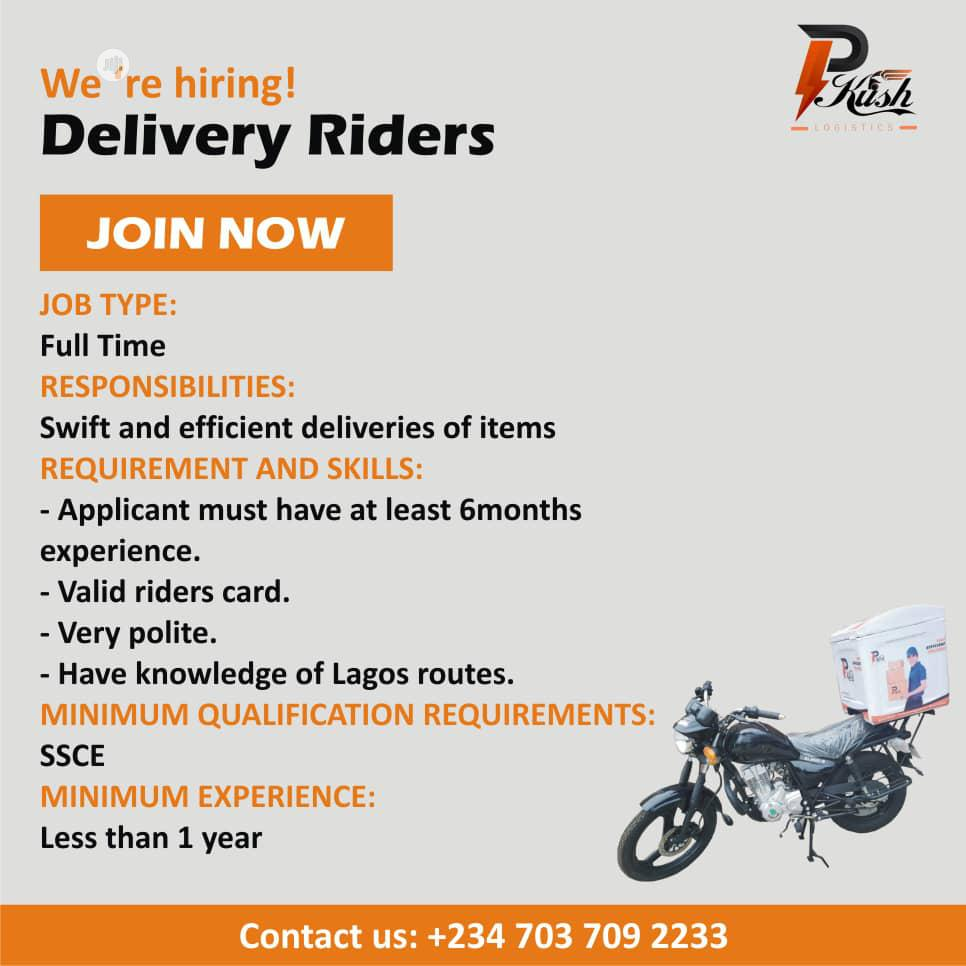 Archive: Riders For Logistics wanted