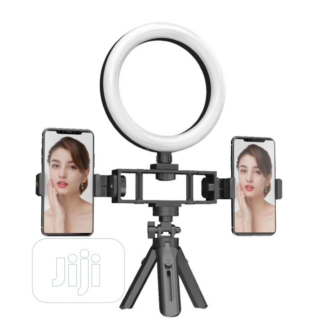Ring Light With Double Phone Holder for Live Streaming
