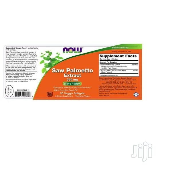 Now Foods Saw Palmetto Extract 320 Mg W Pumpkin Seed Oil 90 | Vitamins & Supplements for sale in Amuwo-Odofin, Lagos State, Nigeria