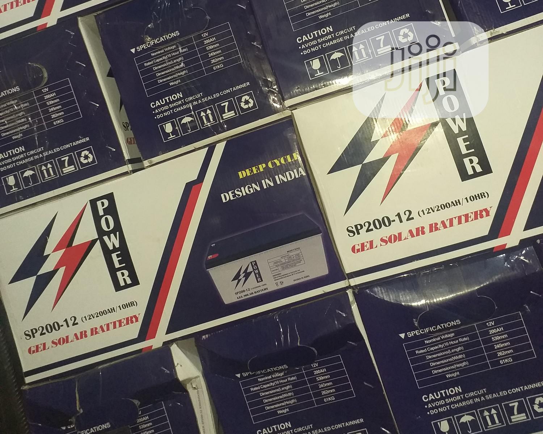 12v 200ah Ss Power Solar Inverter Batteries