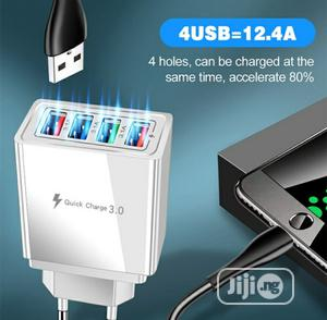 Fast Charge, 3.1A 4 Ports USB Charger | Accessories for Mobile Phones & Tablets for sale in Akwa Ibom State, Uyo