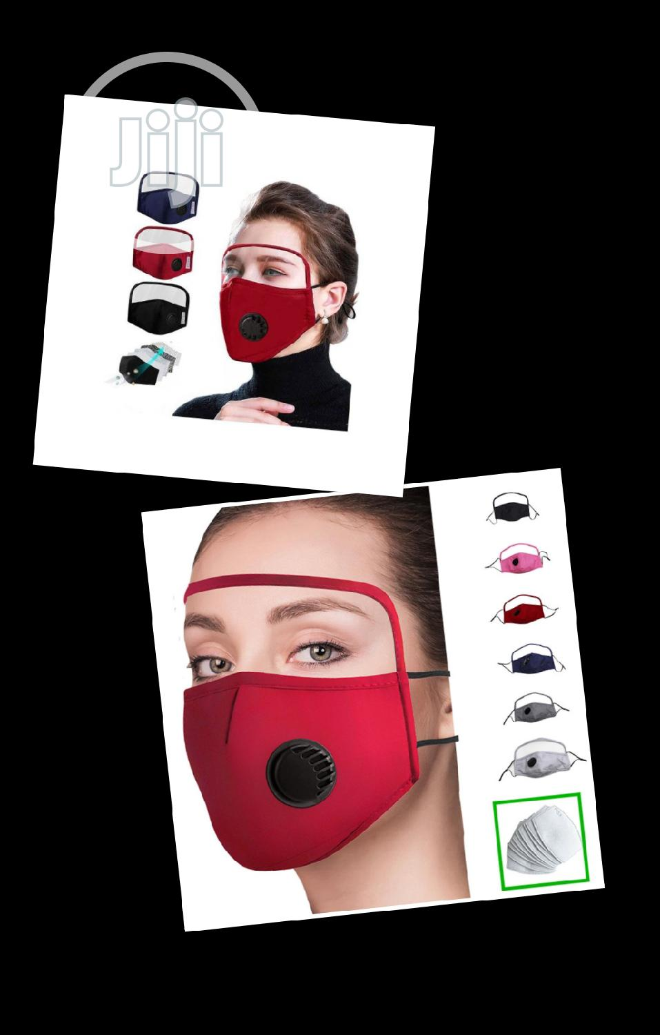 4pcs Nose Mask With Filter Valve and Face Shield | Safetywear & Equipment for sale in Ikorodu, Lagos State, Nigeria