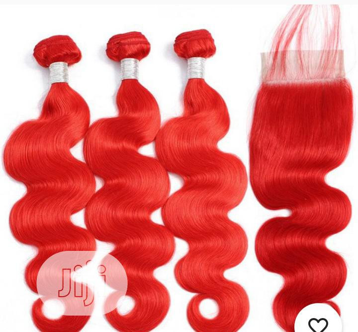 Whats App +237678289990.Pure Human Hair With Closure.   Hair Beauty for sale in Oshodi, Lagos State, Nigeria