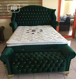 6/6 Bedframe 2side Drawer and an Ottoman Bench | Furniture for sale in Lagos State, Ikoyi