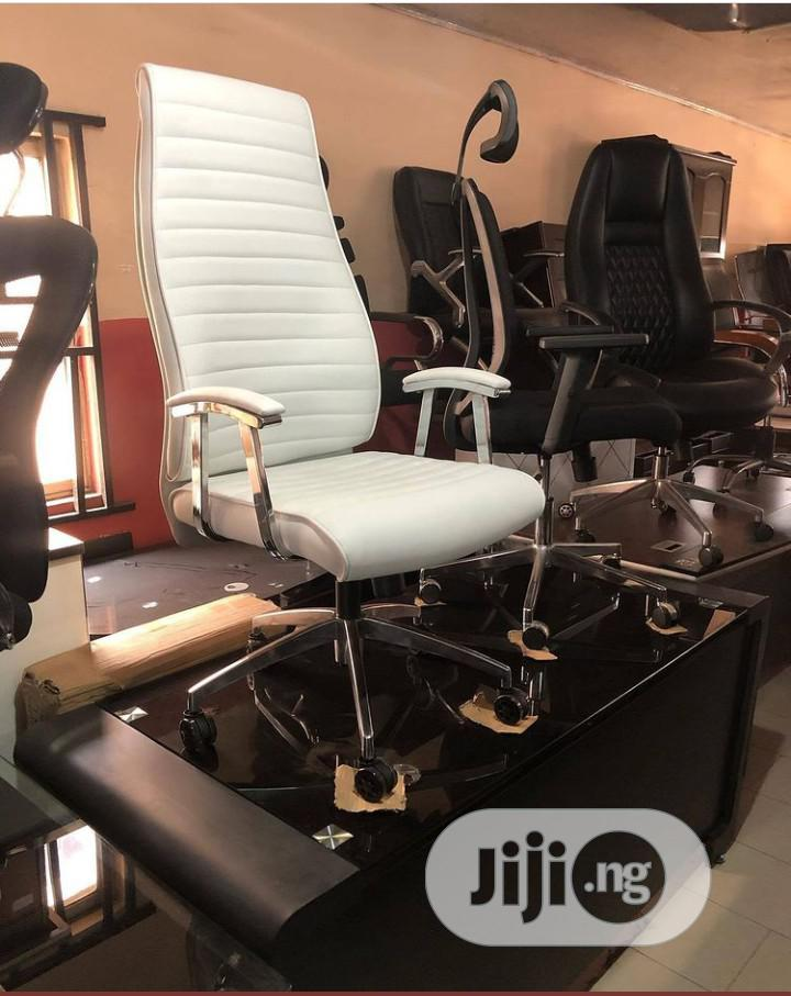 Ergonomic White Executive Office Chair
