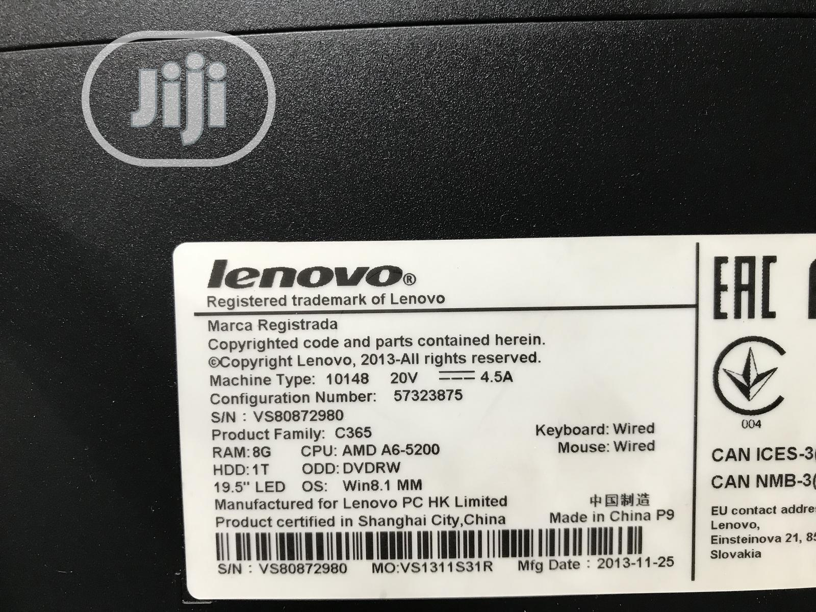 Archive: Desktop Computer Lenovo 8GB AMD A6 HDD 1T