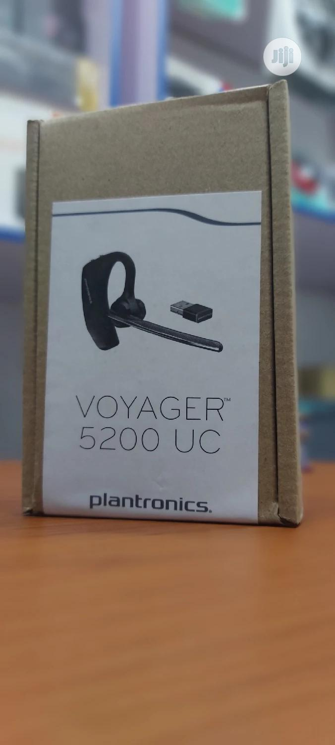 Plantronics Voyager 5200 UC Bluetooth Headset for Phone PC | Headphones for sale in Ikeja, Lagos State, Nigeria