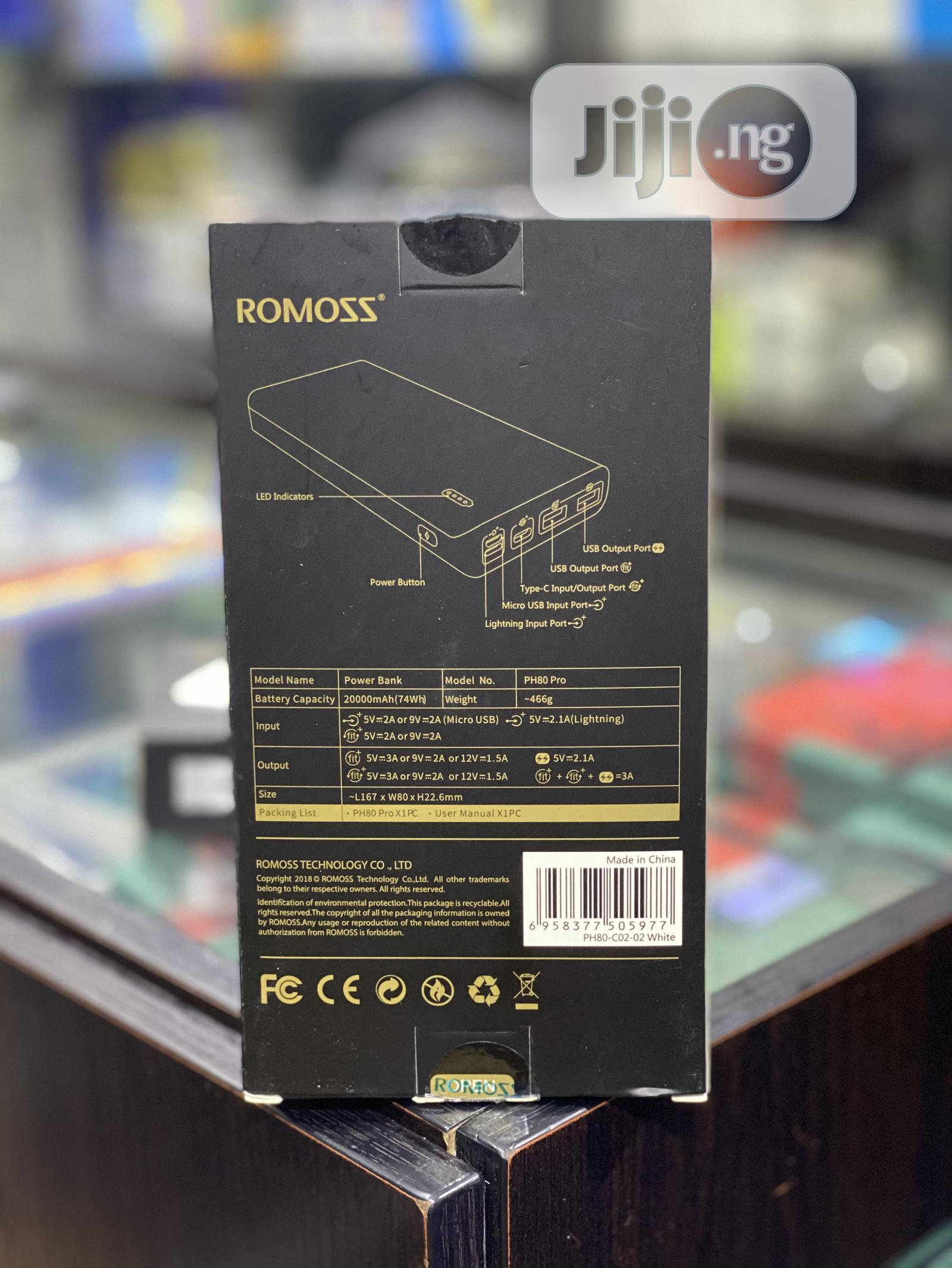 Romoss 20000mah Powerbank | Accessories for Mobile Phones & Tablets for sale in Egbeda, Oyo State, Nigeria