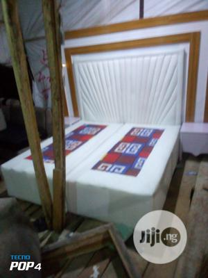 A Well Made Design Leather Bed   Furniture for sale in Lagos State, Ajah