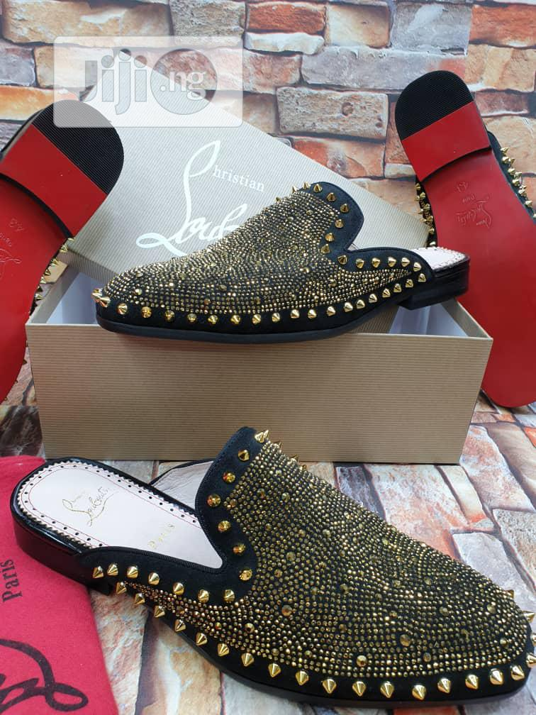 Christian Louboutin Gold Half Shoe