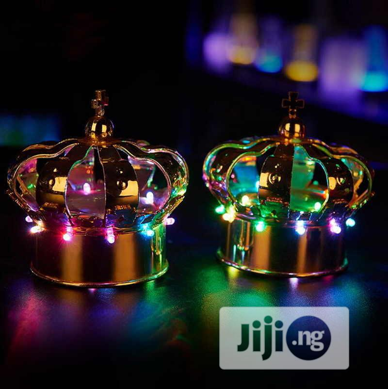 Champagne Head Led Light Crown Wine Bottle Hat Rechargeable | Home Accessories for sale in Yaba, Lagos State, Nigeria