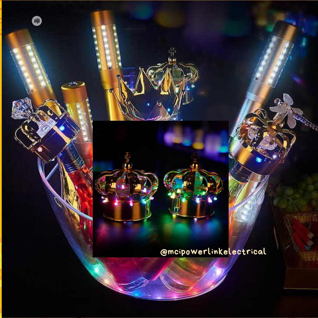 Champagne Head Led Light Crown Wine Bottle Hat Rechargeable