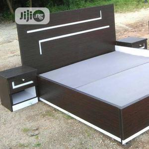 New Bed Frame 4by6 With Two Side Drawer | Furniture for sale in Abuja (FCT) State, Lugbe District