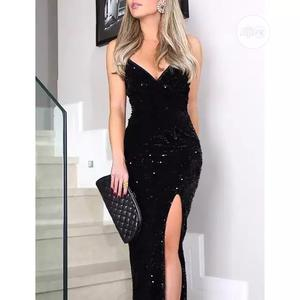 2021 Evening Party Sexy Sequined Sundresses Solit Maxi Dress   Clothing for sale in Lagos State, Lekki