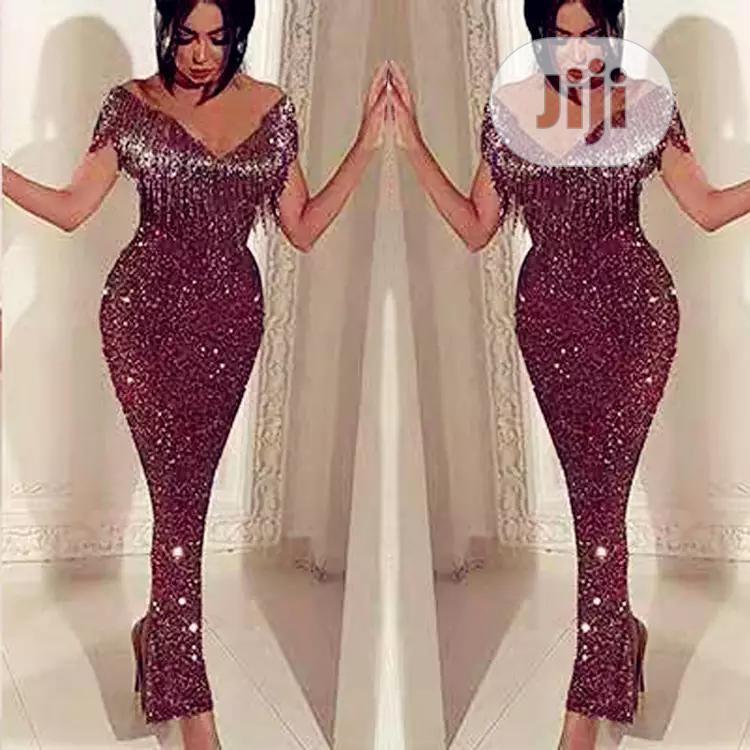 Customized Women's Wear High-End Sequined Sexy Tassel Dress