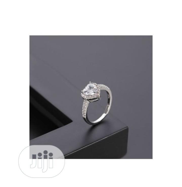 Archive: Unique Silver Heart Shape Women Zircon Engagement Ring S925
