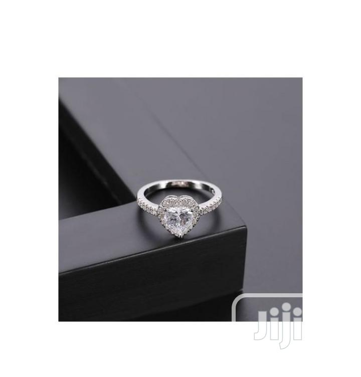 Archive: Unique Silver Heart Shape Women Zircon Engagement Ring S925