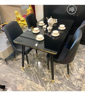 Quality Glass Dinning Table With 4 Chairs | Furniture for sale in Abuja (FCT) State, Wuse