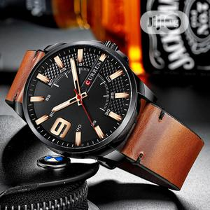 CURREN Top Luxury Waterproof Luminous Leather Watch | Watches for sale in Lagos State, Victoria Island