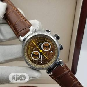 Louis Vuitton Chronograph Silver Leather Strap Watch   Watches for sale in Lagos State, Lagos Island (Eko)