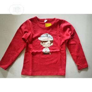 Boys Long Sleeve T-Shirt Cotton Tops Round Neck | Children's Clothing for sale in Lagos State, Ikeja