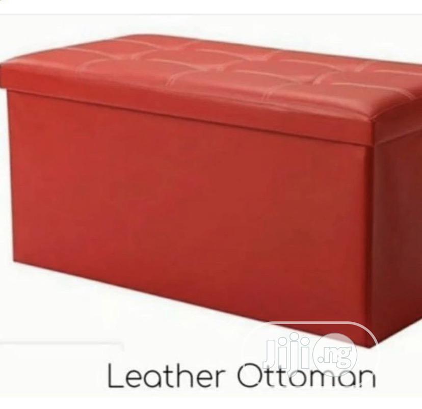 Leather Ottoman Storage | Furniture for sale in Ikeja, Lagos State, Nigeria