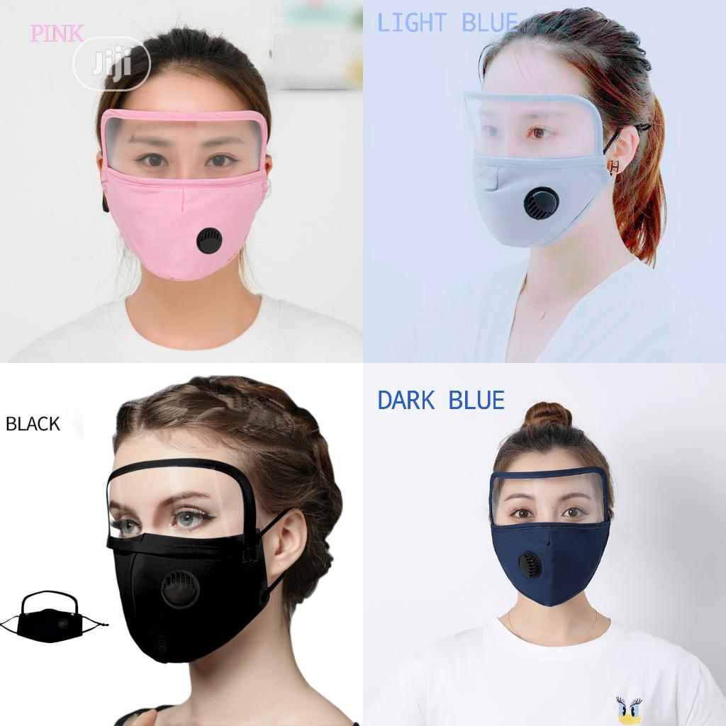 4pcs Nose Mask With Filter Valve and Face Shield