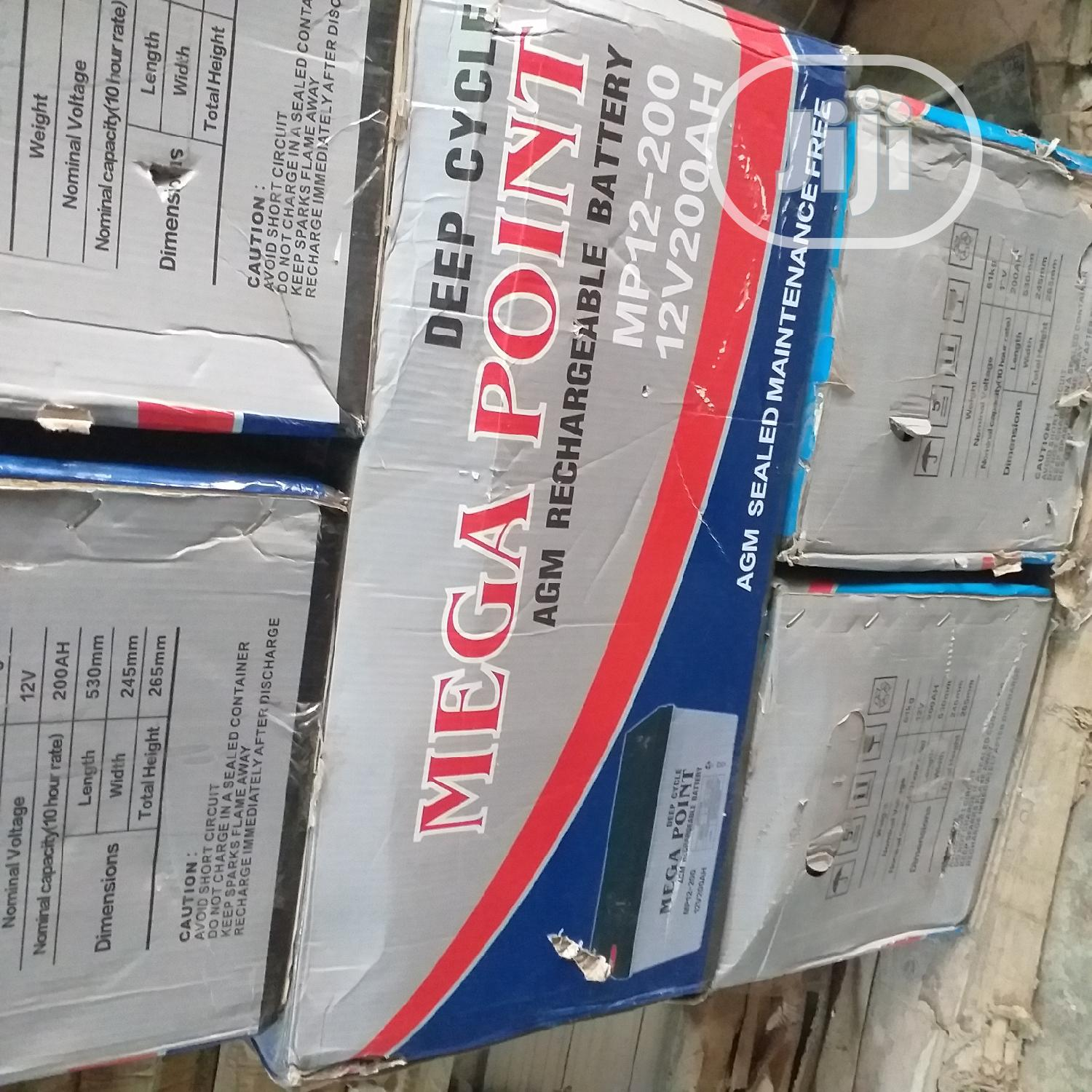Mega Point Deep Cycle Battery 12V 200ah | Solar Energy for sale in Ajah, Lagos State, Nigeria