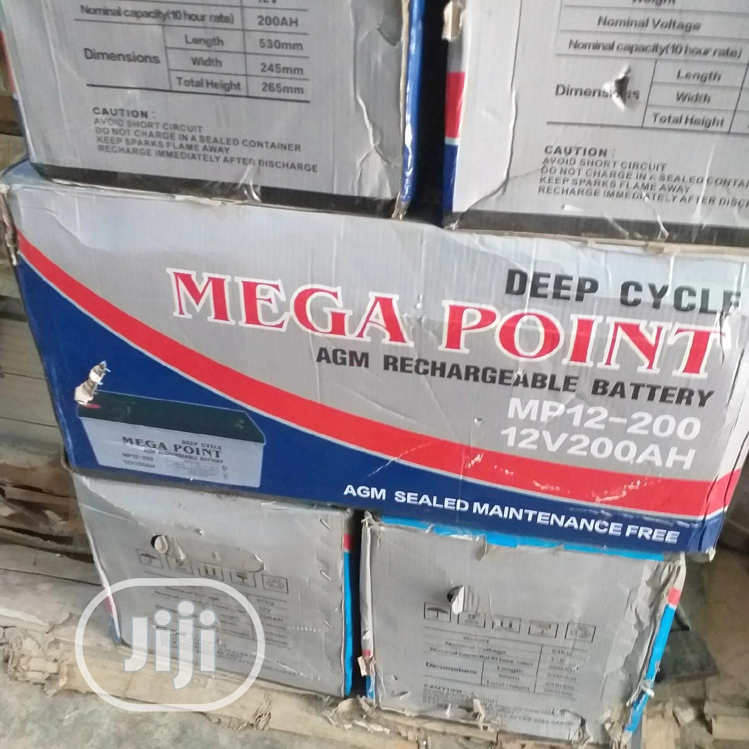 Mega Point Deep Cycle Battery 12V 200ah