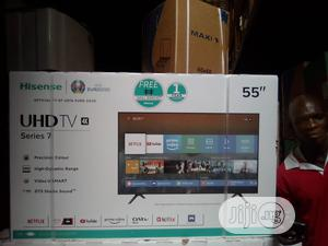 Hisense 55 Inches Smart Tv   TV & DVD Equipment for sale in Lagos State, Ojo