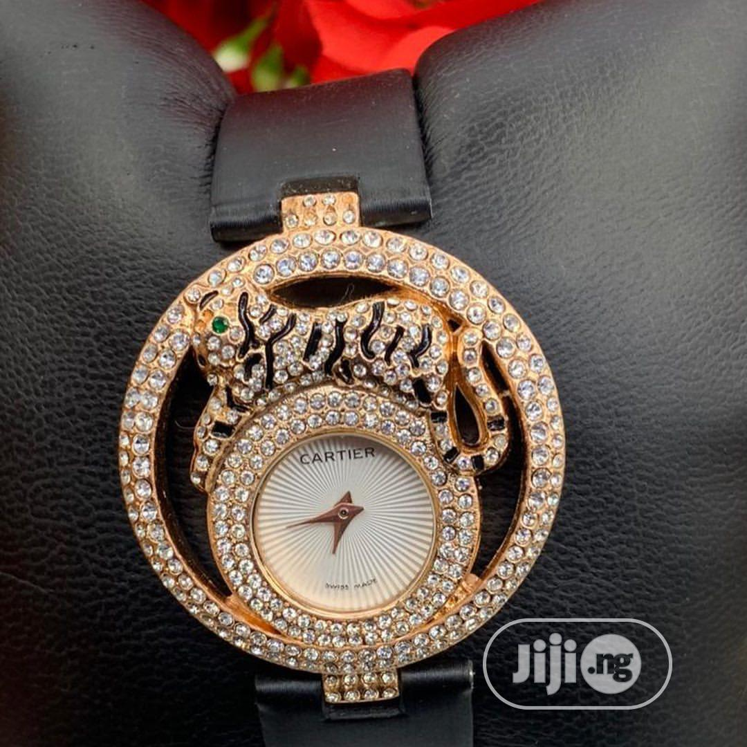 Ladies Leather Wrist Watch | Watches for sale in Surulere, Lagos State, Nigeria